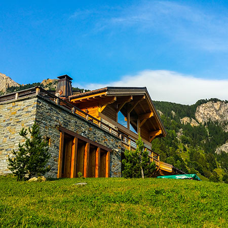 Chalet in the French Alps in Summer