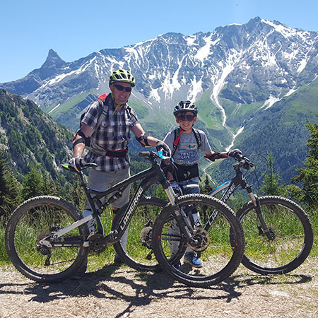 Summer biking in the French Alps for families