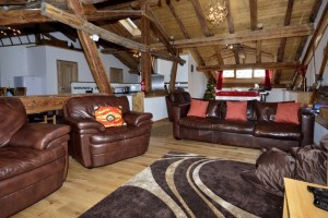 Catered chalet living area