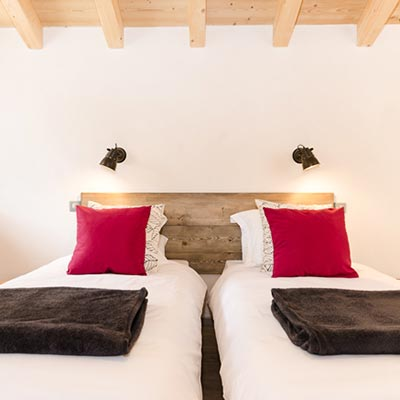 Catered chalet Peisey-Vallandry bedrooms