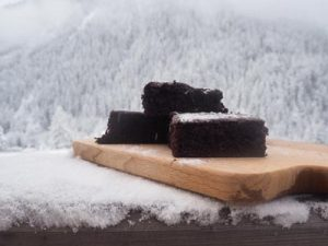 Brownies for dessert in Chalet France