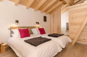 Catered chalet Peisey, the twin bedroom