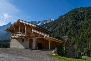 Catered chalet with mountain views