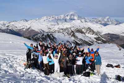 Group ski and weddings in the Alps